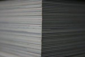paper, stack, books